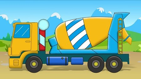 рисованный грузовик
