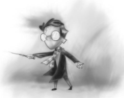 рисованный гарри поттер
