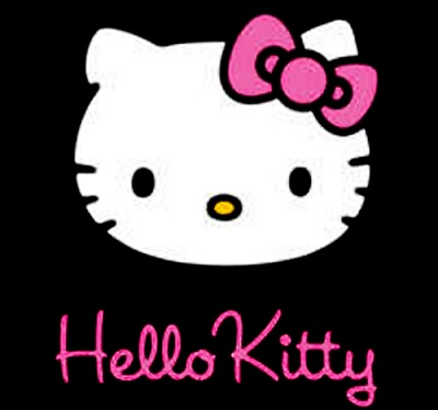 hello kitty на черном фоне