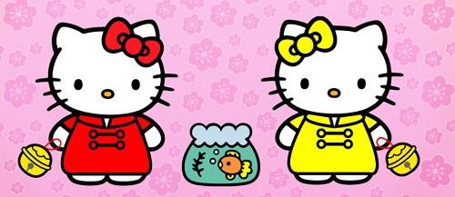 hello kitty в разных нарядах
