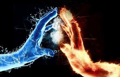 руки огненная и водная