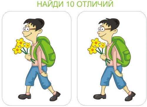 Поиск десяти отличий на двух картинках