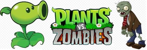 логотип растения против зомби