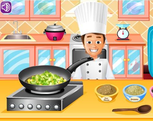 повар готовит пиццу