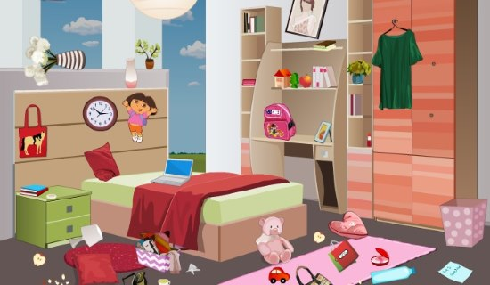 игра наводим порядок в женской спальне