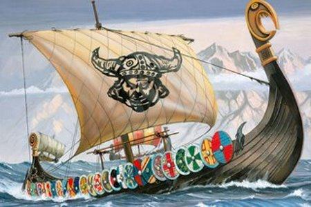 Викинги на корабле